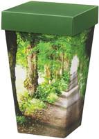 Horisont urna tillverkad